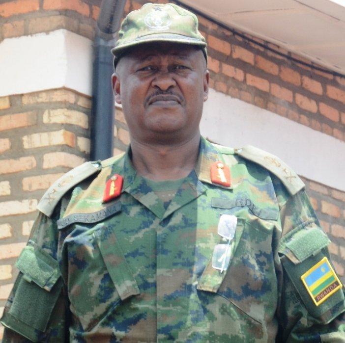 RDF retires Brig. Gen. Sekamana